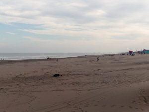 Claromecó: Nutrida presencia de visitantes en un domingo ventoso