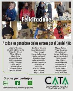 La Agraria entregó los premios del sorteo por el Día del Niño
