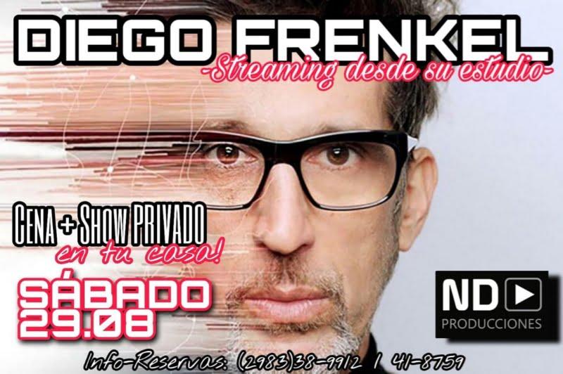 Este sábado se realizará el show online de Diego Frenkel