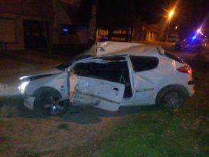 Grave accidente a la madrugada en Ruta 228 y Cangallo