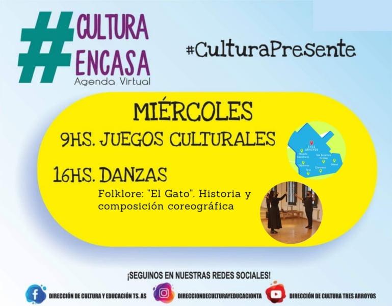 Agenda Cultural Virtual del miércoles 5