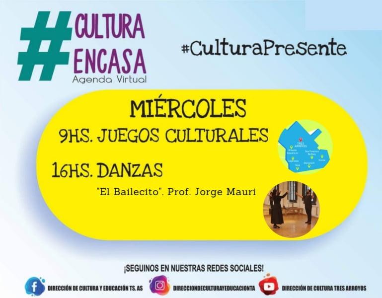 """""""Juegos culturales"""" con premio y """"Folclore"""" en la Agenda Virtual de este miércoles"""