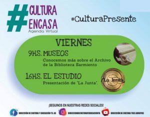 """""""Museos"""" y """"El Estudio"""" en la Agenda Cultural Virtual de este viernes"""