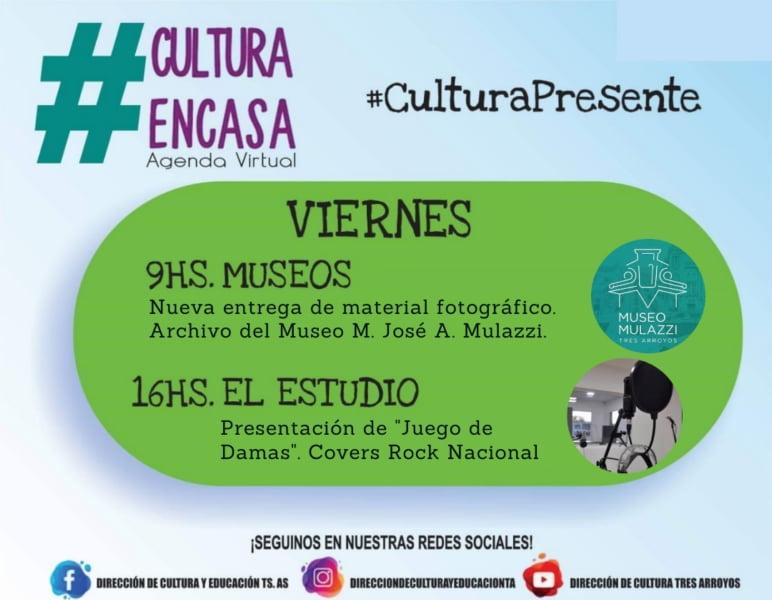 """""""El Mulazzi"""" y """"El Estudio"""" en la Agenda Cultural Virtual de este viernes"""