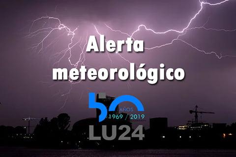 Alerta meteorológico por fuertes tormentas y probabilidad de granizo