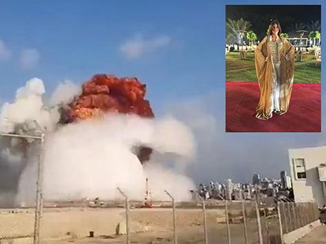 """Tresarroyenses en Beirut están bien. """"La explosión fue tremenda"""" dijo Corina Fernández Zotes"""