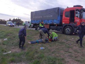 Policías salvan la vida a un hombre descompensado en la ruta