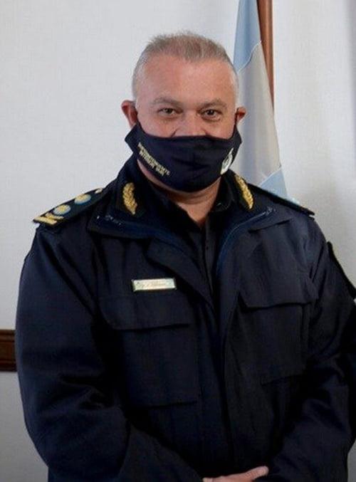 El superintendente policial Aldo Caminada tiene coronavirus