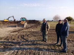 Sánchez supervisó tareas de recuperación de tosca sobre terrenos del Cementerio
