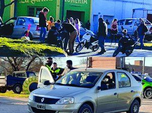Choque entre auto y moto en Rodríguez Peña  y Caseros