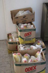 León y Guerra entregaron kits sanitarios en el CIC de Barrio Olimpo