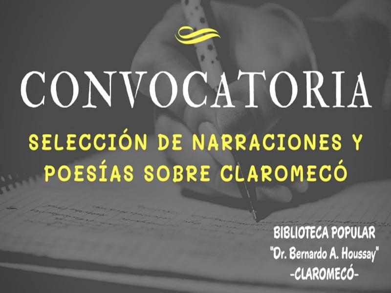 Claromecó: La Biblioteca Houssay convoca a presentar narraciones y poesías