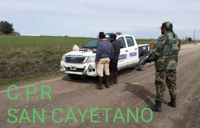 San Cayetano: el CPR aprehendió a un hombre en un procedimiento