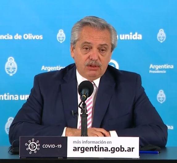 El presidente Alberto Fernández anunció que Argentina producirá la potencial vacuna COVID-19