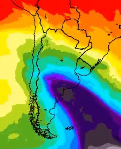 Anuncian la presencia de una gran ola polar para esta semana