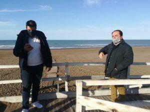 León y Lamberti visitaron la bajada accesible para reacondicionarla
