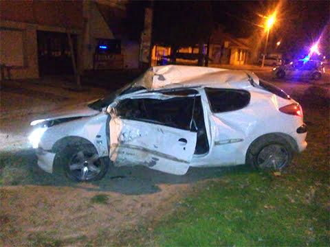 Falleció el joven que chocó contra un árbol en Ruta 228 y Cangallo