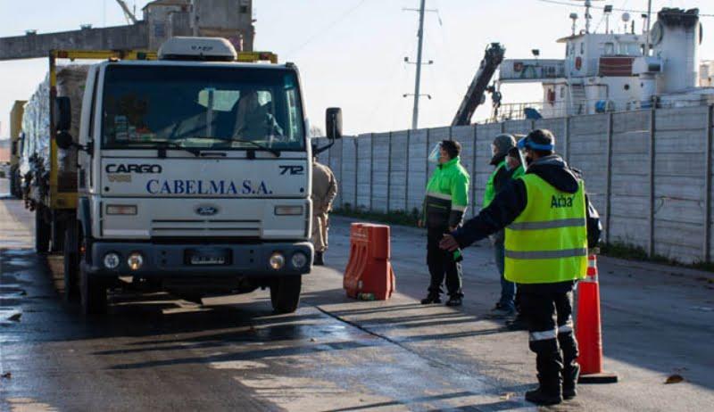 ARBA y Transporte fiscalizan los puertos de Quequén y Dock Sud