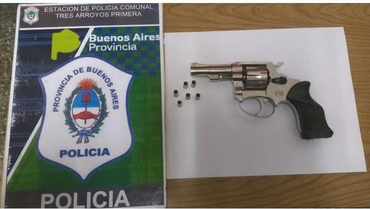 Secuestran un revolver tras un conflicto familiar