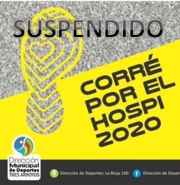 """""""Corré por el Hospi"""" se canceló por la emergencia sanitaria"""