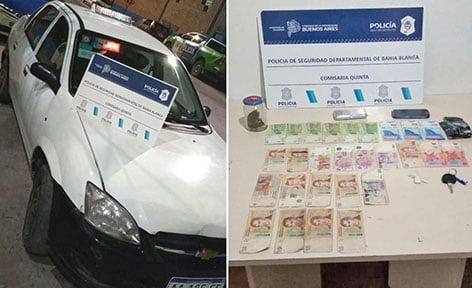 Bahía Blanca: manejaba un taxi a toda velocidad y llevaba droga en su poder