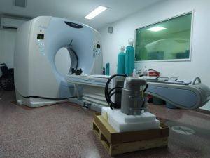 Llegó el tubo para el tomógrafo del Hospital Pirovano