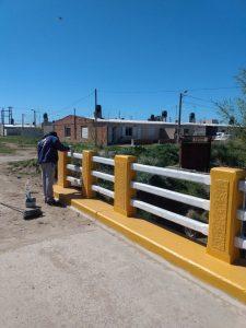 Personal municipal efectúo tareas de mantenimiento en el Barrio El Ciclista