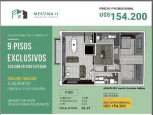Venden desde el pozo departamentos del futuro edificio Messina II