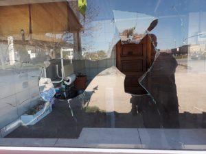Preso por romper vidrios con aparentes intenciones de robo