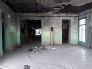 Empezaron los trabajos para la obra de reconstrucción de la Escuela 5