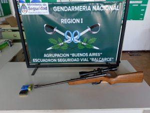 Gendarmería secuestró un arma sin documentación en el ingreso a la ciudad