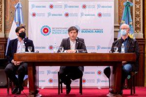 """Kicillof: """"Pudimos cuidarnos gracias a la solidaridad, el trabajo colectivo y a un Estado presente"""""""