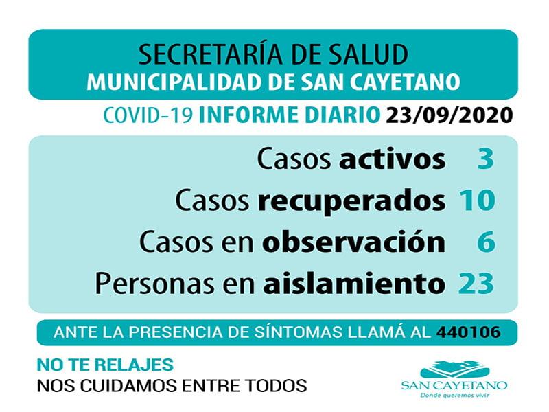 San Cayetano: De siete estudios pendientes por COVID, dieron negativos tres