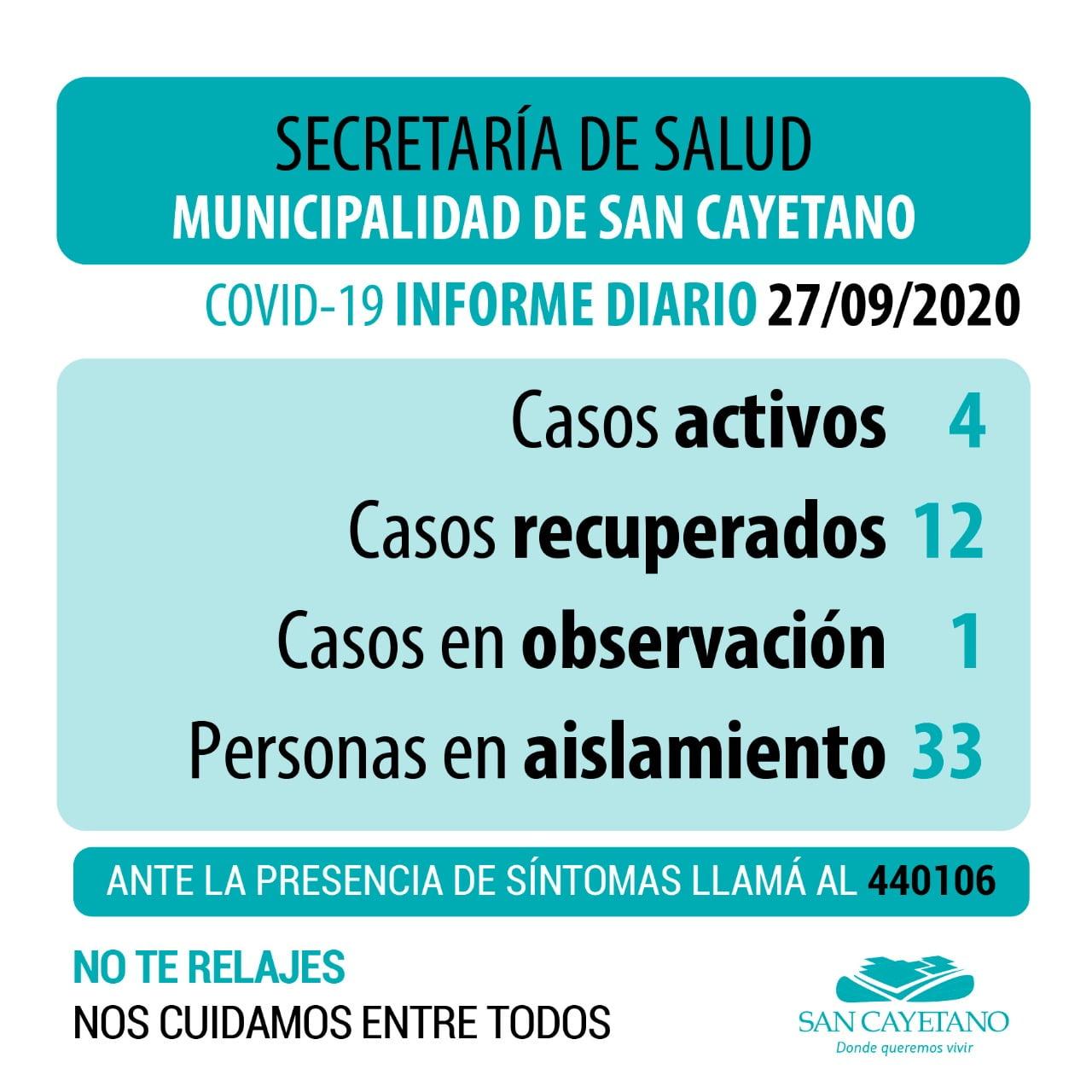 Coronavirus en San Cayetano: un nuevo caso en estudio