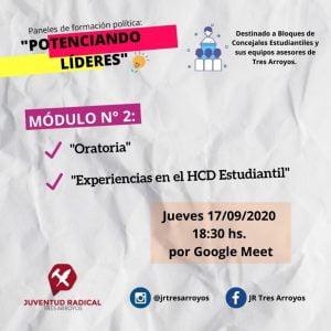 La Juventud Radical realizará paneles de formación política en el marco del HCD Estudiantil