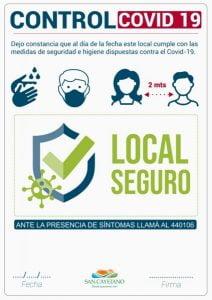 Controles preventivos en comercios de San Cayetano