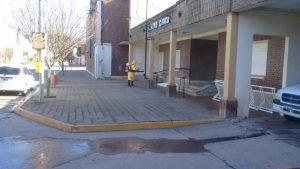 Tareas de desinfección en la Municipalidad de San Cayetano