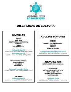 Juegos Bonaerenses 2020: inscripción hasta el 30 de septiembre (Categoría Cultura)
