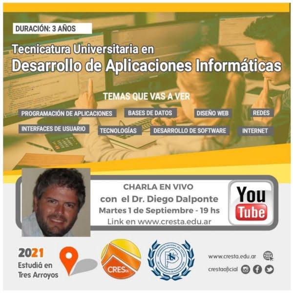 CRESTA: Hoy diserta un referente de Desarrollo de Aplicaciones Informáticas (video)