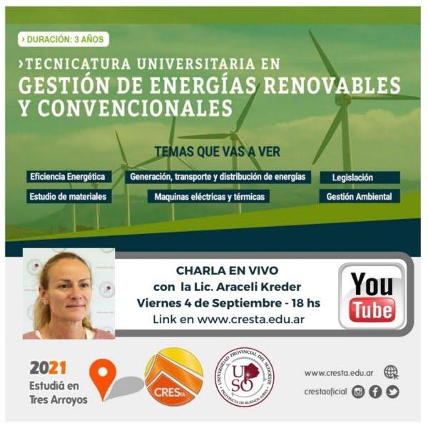 Vivo del CRESTA: Tecnicatura Universitaria en Energías Renovables y Convencionales  (video)