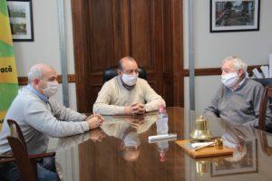 Sánchez y Fernández recibieron al presidente del Club Quilmes