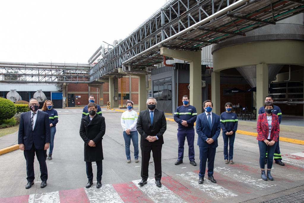 El Presidente relanzó Ahora 12 y Quilmes anunció la ampliación de la Maltería