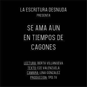 "Estreno audiovisual de ""La escritura desnuda"""