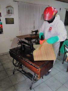 De La Garma continúan con tareas de desinfección en prevención COVID-19