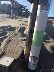 Colocaron tubos para recolectar residuos de pesca del Faro a la Virgencita