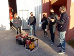 Donaron una motobomba de alta presión a los Bomberos de Claromecó