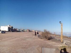 Fría jornada en Claromecó (Video)