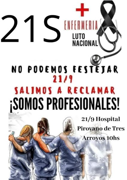 Enfermeros reclamarán por salarios y reconocimiento profesional