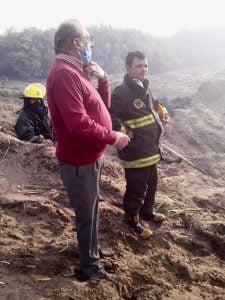 """""""Hubo una coordinación rapidísima"""" dijo Sánchez sobre el incendio del Vivero"""