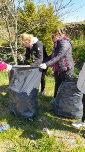 UTEP Evita conformó unidad productiva para realizar limpieza en el camino al Parque Cabañas